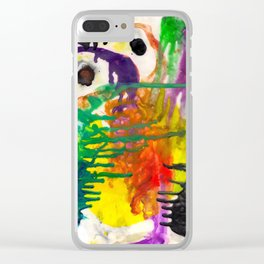Color Meld Clear iPhone Case