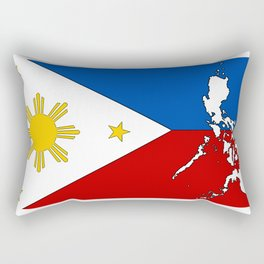Philippines Flag with Filipino Map Rectangular Pillow