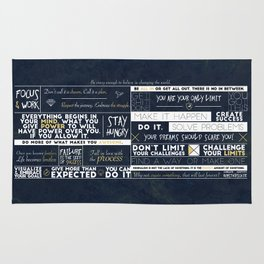 Motivation - 25 Quotes Rug