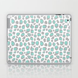 Leopard Animal Print Aqua Blue Gray Grey Spots Laptop & iPad Skin
