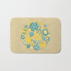 Little Flower Circle Bath Mat