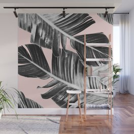 Tropical Blush Banana Leaves Dream #7 #decor #art #society6 Wall Mural