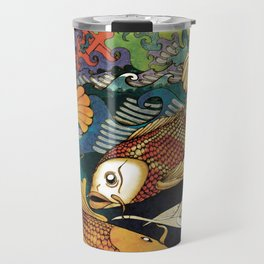 Koi & Egret Travel Mug