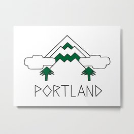 Mt Hood Portland by Seasons K Designs Metal Print