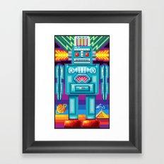 Pixel Robot Framed Art Print