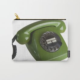 Green Phone 1977 Vintage  Carry-All Pouch