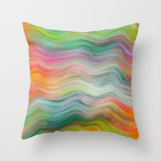 AGATE INTERPRETED: FANTASY WAVES OIL PAINTING Throw Pillow