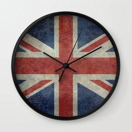 England's Union Jack, Dark Vintage 3:5 scale Wall Clock