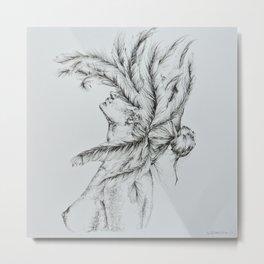'Leda and the Swan' Metal Print