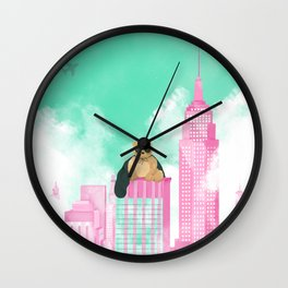 Teddy Bear in New York Wall Clock
