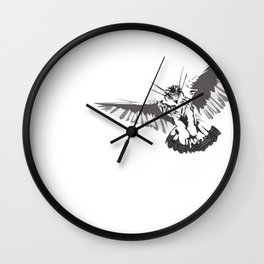 Owl of the Pheonix White Wall Clock