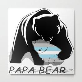 Papa Bear Demiboy Metal Print