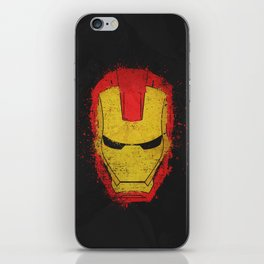 Iron Man splash iPhone Skin