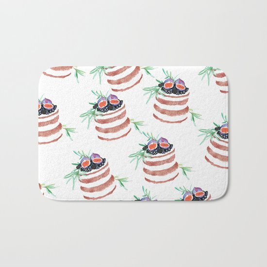 Fig cakes pattern Bath Mat