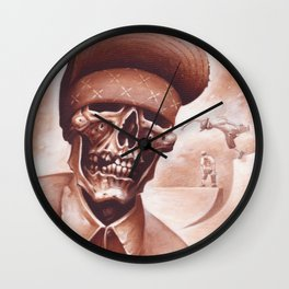 skate and destroyed Wall Clock