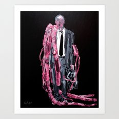 Grey man with flesh malfunction. 2011. Art Print