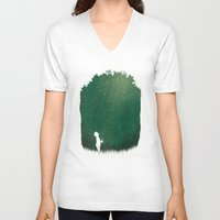 fireflies V-neck T-shirts featuring Fireflies by laurxy