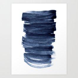 Just Indigo 3 | Minimalist Watercolor Abstract Art Print