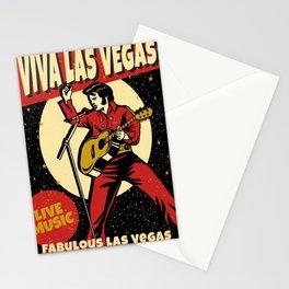 Elvis -Retro Las Vegas Poster Stationery Cards