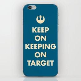 Keep On Keeping On Target (Blue) iPhone Skin