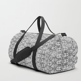 Art Deco Tiles in Grey Duffle Bag