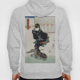 Ichi by Utagawa Kuniyoshi, a traditional Japanese ukiyo-e style illustration. Hoody