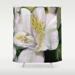 Textured Flower Shower Curtain