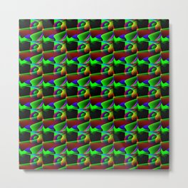 Zig zag pattern Metal Print