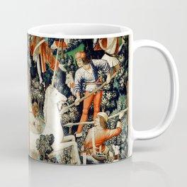 Slaying Of The Unicorn Medieval Tapestry Coffee Mug