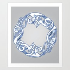 Alphabet O Art Print