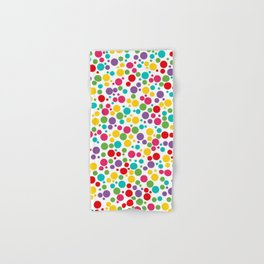 Colorful Abstract Rainbow Polkadot Hand & Bath Towel