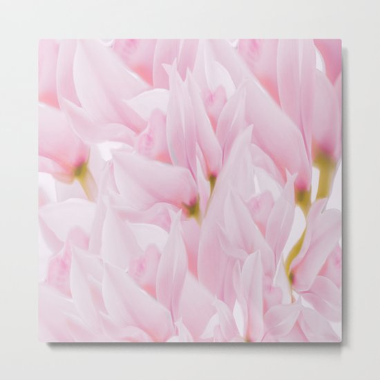 Pink petals on a light background - #Society6 #buyart Metal Print