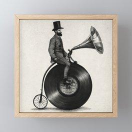 Music Man (monochrome option) Framed Mini Art Print