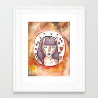 devil Framed Art Prints featuring Devil by Jazmine Phillips