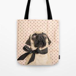 Trés Chic Pug Tote Bag