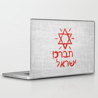 israel Laptop & iPad Skins featuring Bless Israel by biblebox