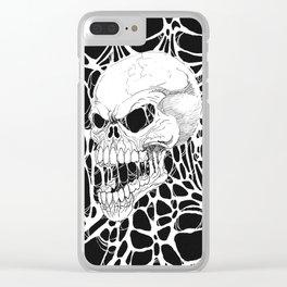Web Skull Art Clear iPhone Case