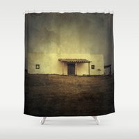 hamlet Shower Curtains featuring Cabo Polonio House by Victoria Herrera