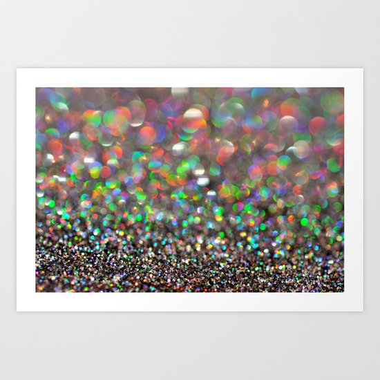 Party Bokeh Party Art Print