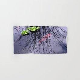 GoldFish In The Pond By Annie Zeno Hand & Bath Towel