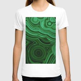 GREEN MALACHITE STONE PATTERN T-shirt