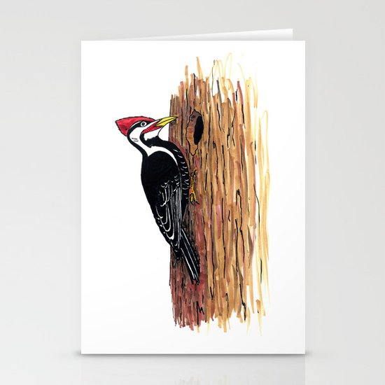 Pileated Woodpecker Stationery Cards