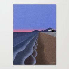 Coast in the evening Canvas Print