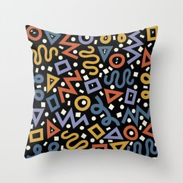 Colorful Party! Throw Pillow