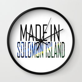 Made In Solomon Island Wall Clock