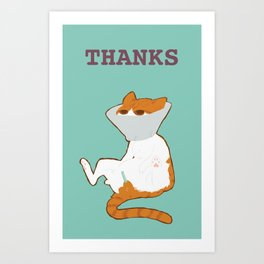 THANKS Art Print