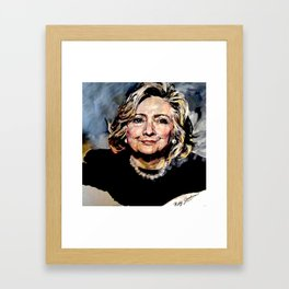 HILLARY CLINTON OFFICIAL PORTRAIT Framed Art Print