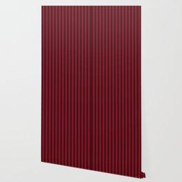 Burgundy Red Stripes Pattern Wallpaper