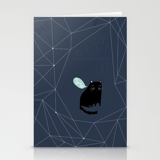my_spacecat Stationery Cards