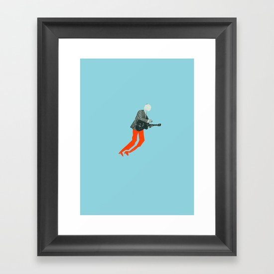 Guitar hero! Framed Art Print